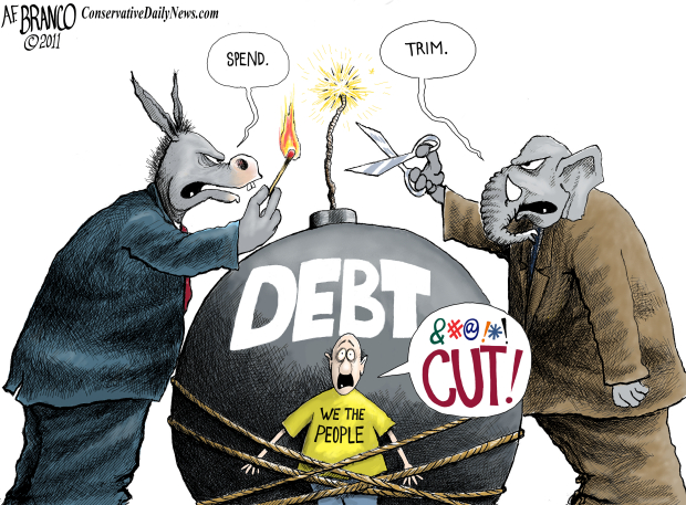 Image result for cartoons of political divide between republicans and democrats